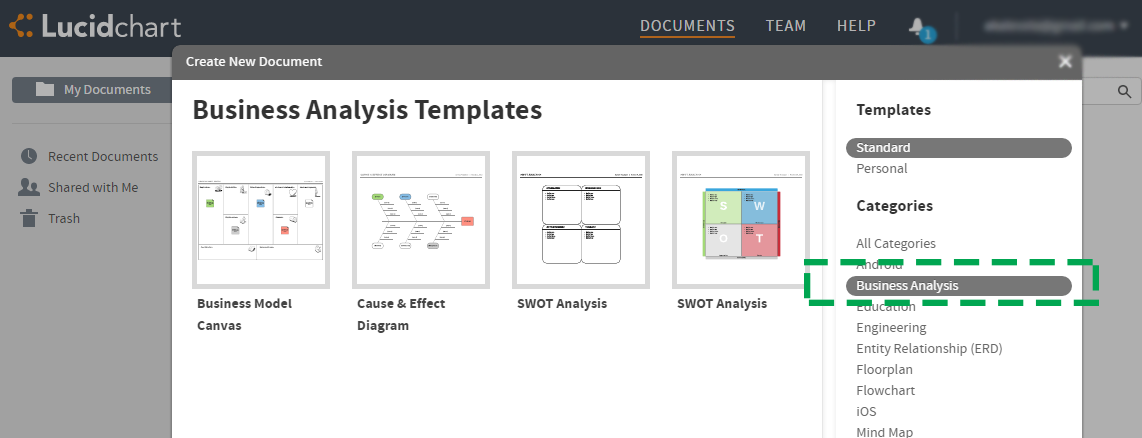 Business Analysis Templates